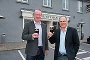 Former Irish Rugby International Mick Galwey  and Guinness Master Brewer Fergal Murray at The Huntsman in  Galway who hosted  the GUINNESS Mid-Strength Taste Test Tour which featured a special Q&A on rugby and a Pour Your Pint Competition. .Full details are available on www.Facebook.com/Guinnessireland GUINNESS Mid-Strength has the unmistakable distinctive taste and is brewed in exactly the same way as GUINNESS, just with less alcohol at 2.8%...The GUINNESS word and associated logos are trademarks...Enjoy Guinness Sensibly...Visit www.drinkaware.ie..
