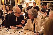 LORD POLTIMORE; MAGGI HAMBLING, , Professor Mikhail Piotrovsky Director of the State Hermitage Museum, St. Petersburg and <br /> Inna Bazhenova Founder of In Artibus and the new owner of the Art Newspaper worldwide<br /> host THE HERMITAGE FOUNDATION GALA BANQUET<br /> GALA DINNER <br /> Spencer House, St. James's Place, London<br /> 15 April 2015