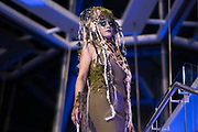 """Model Sarah Milanowksi displays the """"Willow"""" hair sculpture during """"Hair Affair: The Art of Hair"""" at Madison Museum of Contemporary Art in Madison, WI on Thursday, April 25, 2019. The sixth biennial brought an array of designers and stylists from across Wisconsin to create under the theme of """"Zodiac."""""""