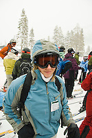 Portrait of skiier, Alpine Meadows, Lake Tahoe, California