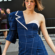 Daianne Bohn Couture (@daiannebohncouture) attend London Fashion Week SS19 street photography at the Strand, London, UK. 17 September 2018.