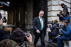 © Licensed to London News Pictures. 10/11/2020. London, UK. Minister for the Cabinet Office Michael Gove on Downing Street after the cabinet meeting. A second national lockdown is now in place to slow the spread of Coronavirus and is expected to last until 2 December 2020. Photo credit: Rob Pinney/LNP