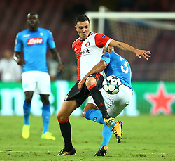 September 26, 2017 - Naples, Italy - Steven Berghuis of Feyenoord and Faouzi Ghoulam of Napoli during the UEFA Champion's League Group F football match Napoli vs Feyenoord Rotterdam on September 26, 2017 at the San Paolo stadium in Naples. (Credit Image: © Matteo Ciambelli/NurPhoto via ZUMA Press)