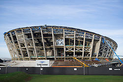 Construction of new Scottish Hydro Arena in Glasgow United kingdom