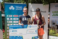 Maja Makoric and Nika Kozar after finals of Drzavno prvenstvo v tenisu za clane in clanice, on June 27th, 2019 in Maribor, Slovenia. Photo by Milos Vujinovic / Sportida