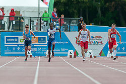 TRUNOV Vadim, ABIDOGUN Ola, DERUS Michal Mateusz, HITTENBERGER Michael, 2014 IPC European Athletics Championships, Swansea, Wales, United Kingdom