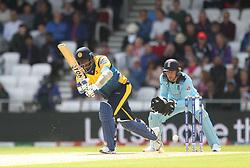 June 21, 2019 - Leeds, Yorkshire, United Kingdom - Angelo Mathews of Sri Lanka batting during the ICC Cricket World Cup 2019 match between England and Sri Lanka at Headingley Carnegie Stadium, Leeds on Friday 21st June 2019. (Credit Image: © Mi News/NurPhoto via ZUMA Press)