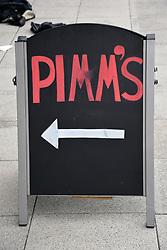 Pimm's sign, UEA, Norwich UK