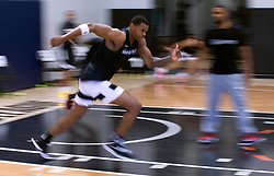 G League Ignite's Michael Foster runs sprints during a practice with the team on Tuesday, Sept. 28, 2021 in Walnut Creek, Calif.