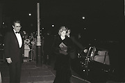 Princess Diana arriving at the Austrian Embassy in Belgrave Sq. 1 April 1986