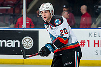 KELOWNA, BC - FEBRUARY 28: Matthew Wedman #20 of the Kelowna Rockets skates against the Everett Silvertips during first period at Prospera Place on February 28, 2020 in Kelowna, Canada. Wedman was selected in the 2019 NHL entry draft by the Florida Panthers. (Photo by Marissa Baecker/Shoot the Breeze)