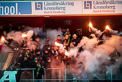 """March 9, 2019 - VÃ""""XjÃ, SVERIGE - 190309 AIK:s publik under kvartsfinalen i Svenska Cupen mellan Öster och AIK den 9 mars 2019 i Växjà (Credit Image: © Avdo Bilkanovic/Bildbyran via ZUMA Press)"""