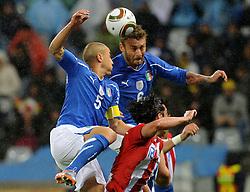 14.06.2010, Cape Town Stadium, Kapstadt, RSA, FIFA WM 2010, Italien vs Paraguay im Bild Fabio Cannavaro e Daniele De Rossi (Italia)., EXPA Pictures © 2010, PhotoCredit: EXPA/ InsideFoto/ G. Perottino, ATTENTION! FOR AUSTRIA AND SLOVENIA ONLY!!! / SPORTIDA PHOTO AGENCY