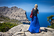 Formentor, Mallorca, Tourist taking pictures at cap de Formentor 12-08-2018
