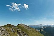 view of mountain ridge near Col du Pas de l'Ane, Haute-Garonne, Midi-Pyrenees, France.