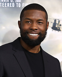 """Trevante Rhodes attends the premiere of """"12 Strong"""" at Jazz at Lincoln Center's Frederick P. Rose Hall in New York"""