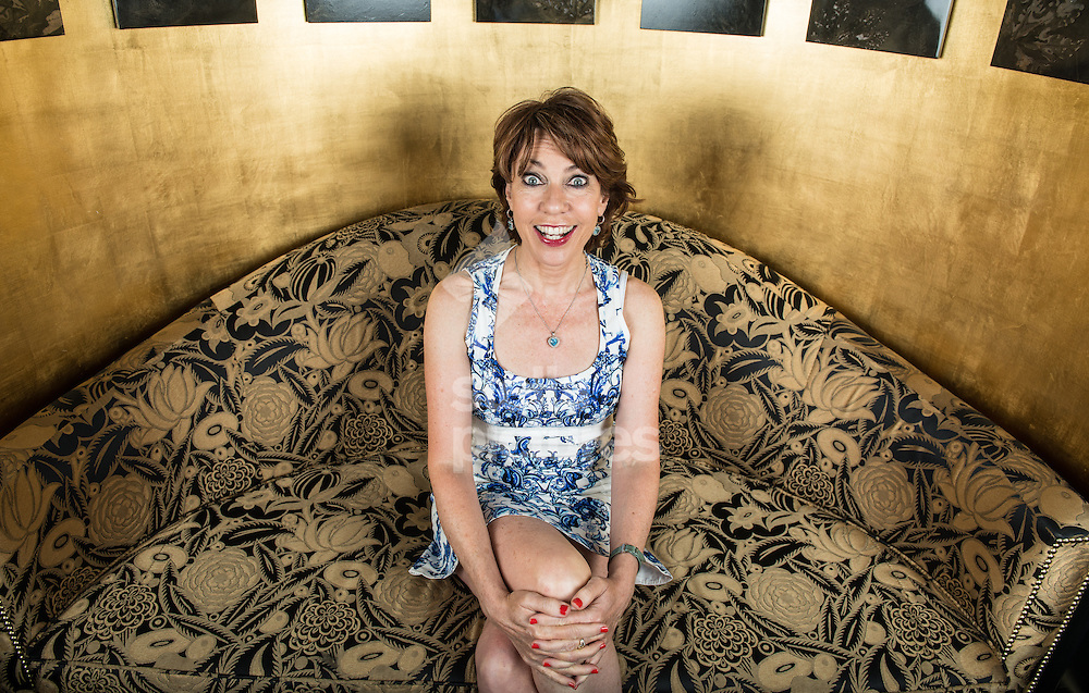 Australian author, Kathy Lette pictured at Savoy Hotel, London<br /> Picture by Daniel Hambury/Stella Pictures Ltd +44 7813 022858<br /> 25/07/2014