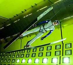 18.10.2013, Klima Wind Kanal, Wien, AUT, OESV, Nordische Kombination Skisprungtraining im Wind Kanal, im Bild Bernhard Gruber // during the Skijump training in the Climatic Wind Tunnel, Austria 2013/10/18. EXPA Pictures © 2013, PhotoCredit: EXPA/ Sascha Trimmel