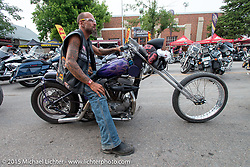 Main Street during the 75th Annual Sturgis Black Hills Motorcycle Rally.  SD, USA.  August 7, 2015.  Photography ©2015 Michael Lichter.
