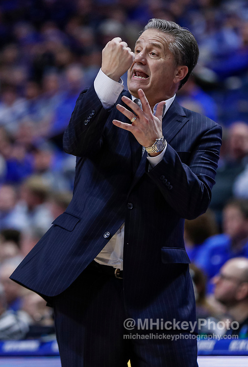 LEXINGTON, KY - DECEMBER 14: Head coach John Calipari of the Kentucky Wildcats is seen during the game against the Georgia Tech Yellow Jackets at Rupp Arena on December 14, 2019 in Lexington, Kentucky. (Photo by Michael Hickey/Getty Images) *** Local Caption *** John Calipari