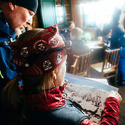Jen Calder briefing Powder 8 competitors on what to expect out of bounds from Jackson Hole Mountain Resort.