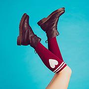 """Official cover of CHEAK!'s single """"Heart Shape Socks""""."""