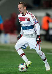 17.02.2015, Arena Lwiw, Lwiw, UKR, UEFA CL, Schachtar Donezk vs FC Bayern Muenchen, Achtelfinale, Hinspiel, im Bild FRANCK RIBERY // during the UEFA Champions League Round of 16, 1st Leg match between between Schachtar Donezk and FC Bayern Munich at the Arena Lwiw in Lwiw, Ukraine on 2015/02/17. EXPA Pictures © 2015, PhotoCredit: EXPA/ Pixsell/ RAFAL OLEKSIEWICZ<br /> <br /> *****ATTENTION - for AUT, SLO, SUI, SWE, ITA, FRA only*****