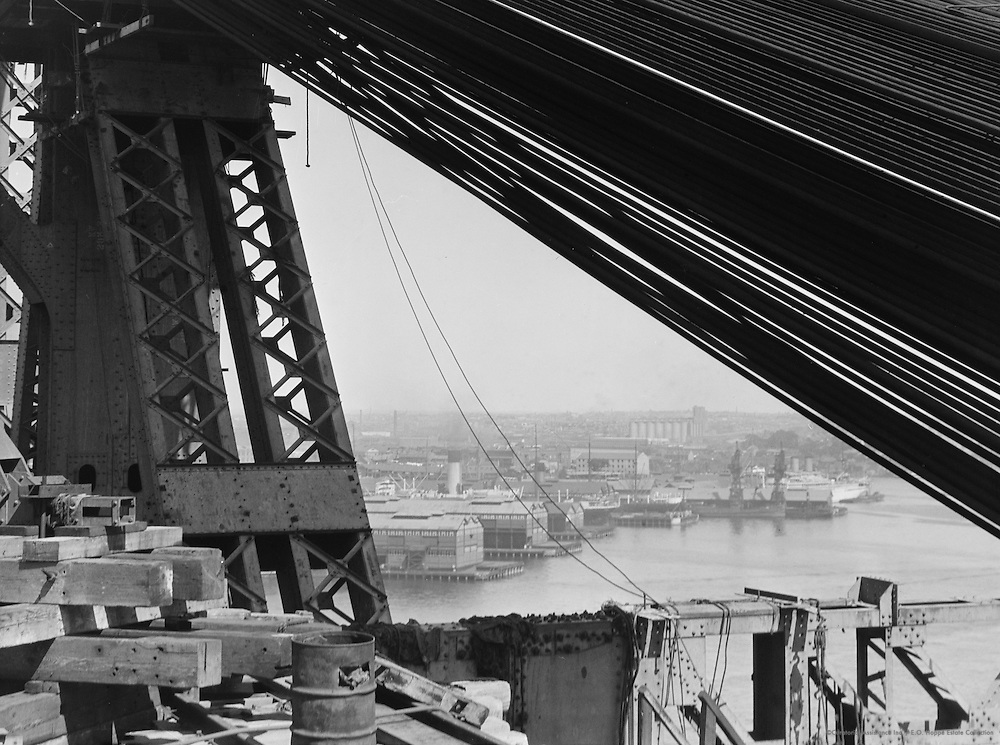 View through the Sydney Harbour Bridge, Australia, 1930