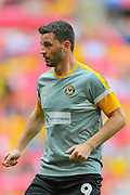 Newport County forward Padraig Amond (9) warms up prior to the EFL Sky Bet League 2 Play Off Final match between Newport County and Tranmere Rovers at Wembley Stadium, London, England on 25 May 2019.