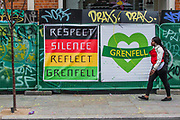 Remebering Grenfell in green - The Sunday of the Notting Hill Carnival. The annual event on the streets of the Royal Borough of Kensington and Chelsea, over the August bank holiday weekend. It is led by members of the British West Indian community, and attracts around one million people annually, making it one of the world's largest street festivals.