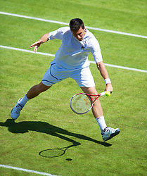 30.06.2012, Wimbledon, London, ENG, ATP World Tour, The Championships Wimbledon, im Bild Kenneth Skupski (GBR) during the Gentlemen's Doubles 2nd Round match during day six of the ATP world Tour Wimbledon Lawn Tennis Championships at the All England Lawn Tennis and Croquet Club, London, Great Britain on 2012/06/30. EXPA Pictures © 2012, PhotoCredit: EXPA/ Propagandaphoto/ David Rawcliff..***** ATTENTION - OUT OF ENG, GBR, UK *****