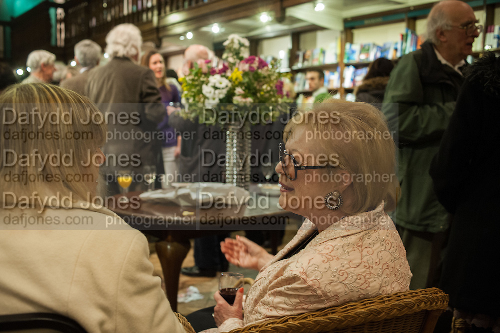 PROF ROSALIND MARSH; LADY ANTONIA FRASER; , William Fitzgerald, Book launch ,  'How to read a Latin poem - if you can't read Latin yet' published by OUP.- Daunts bookshop Marylebone, London 21 February 2013.
