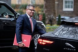 © Licensed to London News Pictures. 17/12/2019. London, UK. International Development Secretary Alok Sharma leaving Downing Street after attending a Cabinet meeting this morning. Photo credit : Tom Nicholson/LNP