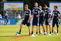 24.04.2014, Veltins Arena, Gelsenkirchen, GER, 1. FBL, Training Schalke 04, im Bild V.l.n.r. Klaas Jan Huntelaar, Jan Kirchhoff, Philipp Max, Adam Szalai und Leroy Sane ( alle Schalke 04 ) bei Trainingsuebungen. // during a Trainingsession of German Bundesliga Club Schalke 04 at the Veltins Arena in Gelsenkirchen, Germany on 2014/04/24. EXPA Pictures © 2014, PhotoCredit: EXPA/ Eibner-Pressefoto/ Thienel<br /> <br /> *****ATTENTION - OUT of GER*****
