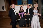 CHARLES SAUMERAZ SMITH; SARAH FABERGE; SIR PAUL JUDGE; LADY BARBARA  JUDGE, Triennial Summer Ball, Royal Academy. Piccadilly. London. 20 June 2011. <br /> <br />  , -DO NOT ARCHIVE-© Copyright Photograph by Dafydd Jones. 248 Clapham Rd. London SW9 0PZ. Tel 0207 820 0771. www.dafjones.com.