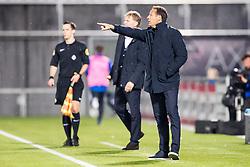 (L-R) coach Fons Groenendijk of ADO Den Haag, coach John van 't Schip of PEC Zwolle during the Dutch Eredivisie match between PEC Zwolle and ADO Den Haag at the MAC3Park stadium on October 28, 2017 in Zwolle, The Netherlands