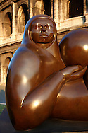 Modern sculpture by Jmenez Deredia . Rome