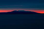 Mt Susitna, sunset from Pt. Woronzof