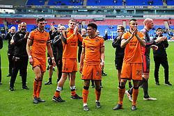 Wolverhampton Wanderers players celebrate at full time - Mandatory by-line: Matt McNulty/JMP - 21/04/2018 - FOOTBALL - Macron Stadium - Bolton, England - Bolton Wanderers v Wolverhampton Wanderers - Sky Bet Championship