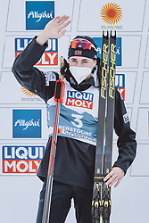 04.03.2021, Oberstdorf, GER, FIS Weltmeisterschaften Ski Nordisch, Oberstdorf 2021, Herren, Nordische Kombination, Einzelbewerb, Siegerpräsentation, im Bild Silbermedaillengewinner Jarl Magnus Riiber (NOR) // Silver medalist Jarl Magnus Riiber of Norway during the winner presentation for the men Nordic combined Single of FIS Nordic Ski World Championships 2021 in Oberstdorf, Germany on 2021/03/04. EXPA Pictures © 2021, PhotoCredit: EXPA/ Dominik Angerer