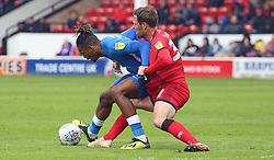 Ivan Toney of Peterborough United battles for possession with Scott Laird of Walsall - Mandatory by-line: Joe Dent/JMP - 27/04/2019 - FOOTBALL - Banks's Stadium - Walsall, England - Walsall v Peterborough United - Sky Bet League One