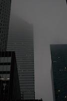 Midtown Manhattan skyscraper buildings in the evening time new York