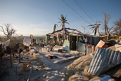 October 7, 2016 - Port Salute, Haiti - Remains of a house that was destroyed by hurricane Matthew in a village near Port Salute, on October 7, 2016. Hurricane Matthew killed almost 900 people and displaced tens of thousands in Haiti before plowing northward on Saturday just off the southeast U.S. coast, where it caused major flooding and widespread power outages. (Credit Image: © Bahare Khodabande/NurPhoto via ZUMA Press)