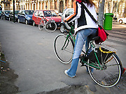 13-03-05 Milano: pista ciclabile nei pressi del Castello Sforzesco..Cycle Track around to Sforza Castle in Milan