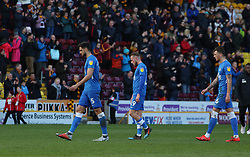 Peterborough United players Ryan Tafazolli, George Cooper and Ben White leave the pitch dejected at full-time - Mandatory by-line: Joe Dent/JMP - 09/03/2019 - FOOTBALL - Northern Commercials Stadium - Bradford, England - Bradford City v Peterborough United - Sky Bet League One