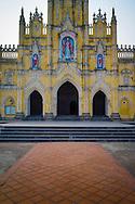 Facade of Lieu De Parish Church in Lieu De Town, Nghia Hung District, Nam Dinh Province, Vietnam, Southeast Asia