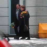 Catherine Keyl en Rob Verlinden verlaten de RTL studio's in Hilversum