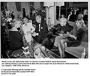 Room scene on right hand side L.A. hostess Connie Wald & Joely Richardson during a party hosted by Billy McCarty-Cooper for Jean Howard's Hollywood book. Los Angeles. 1989. Film.89326/14<br /><br />© Copyright Photograph by Dafydd Jones<br />66 Stockwell Park Rd. London SW9 0DA<br />Tel 0171 733 0108
