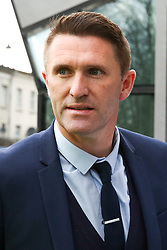 © Licensed to London News Pictures. 03/04/2019. London, UK. Robbie Keane, former Irish footballer arrive at the £400 million new stadium as Tottenham Hotspurs play their first competitive game against Crystal Palace this evening. Photo credit: Dinendra Haria/LNP