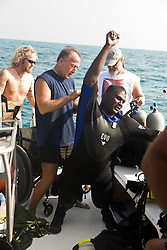 Disabled veterans scuba diving event
